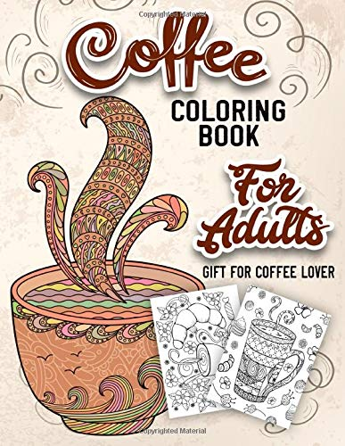 Coffee-Themed Coloring Book