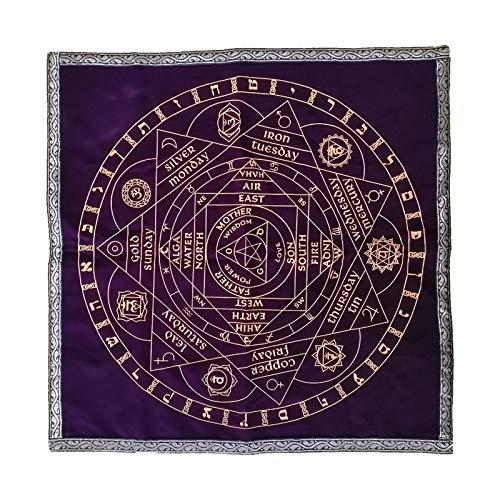 Colcolo Tapeçaria de toalha de mesa para tarô, adivinhação, cartas de bruxa, altar espiritual para amantes de tarô