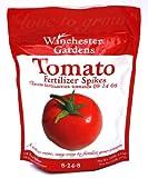 Best Tomato Plant Fertilizers - Winchester Gardens 18 Count Tomato Fertilizer Spikes Bag Review