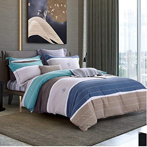 yaonuli Pure Cotton Sanding Four-Piece Cotton dikke warme isolatie print eenvoudig 200 * 230/245 * 250
