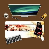 ゲーミングマウスパッド、大きなマウスパッド NA-RUTO SASUKEマウスパッド長方形滑り止めゴム電子スポーツ特大サイズの大きなマウスパッドゲーム専用、ラップトップコンピュータPC-A_800x300x3mm