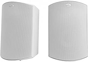 Polk Audio Atrium 5 Outdoor Speakers with Powerful Bass (Pair, White) - All-Weather Durability | Broad Sound Coverage | Speed-Lock Mounting System
