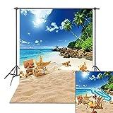 DANIU Fondo de fotografía de playa tropical de verano con palmeras de la isla de Hawái, fondo para fotografía de retrato para niños, decoración de sesión de fotos, accesorios de estudio