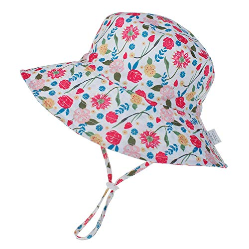 Odosalii Kids Sun Hat Baby Toddler Fisherman Hat Wide Brim Summer Sunhat Soft Beach Hats for Boys and Girls with 50+UPF Protection