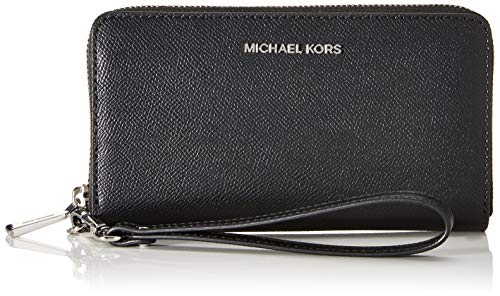 Michael Kors Damen Jet Set LG COIN MF PHN CASE, Black, L