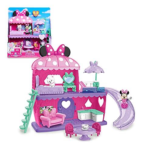 Giochi Preziosi Minnie playset casa con Topolina inclusa, 3 ambienti di gioco, 1 cucciolo e tanti accessori, per bambini dai 3 anni, MCN22000