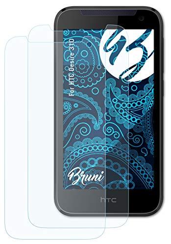 Bruni Schutzfolie kompatibel mit HTC Desire 310 Folie, glasklare Bildschirmschutzfolie (2X)