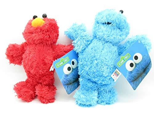 2 Felpa PLUSH Personajes 26cm Muppets Elmo + Monstruo de las Galletas peludos Originales Oficiales