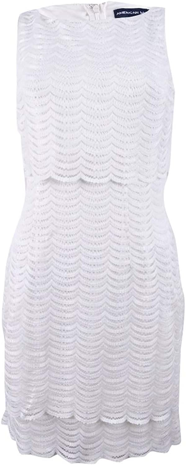 American Living Womens Lace Overlay Sleeveless Party Dress