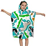 Baby's Cute Hooded Bath Beach Towel Borzoi Dogs Ultra Soft Quick Drying Super Soft Single Ply 100% Organic Cotton