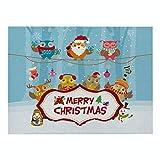 Generice Nueva Navidad algodón y lino manteles individuales de dibujos animados aislamiento térmico impermeable estera de la tabla aislamiento térmico antideslizante