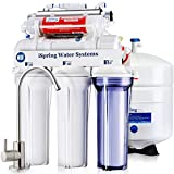 Product Image of the iSpring RCC7AK-UV, NSF Certified, 75GPD 7-Stage Under Sink Reverse Osmosis RO Drinking Water Filtration System with Alkaline Remineralization Filter and UV Ultraviolet Filter