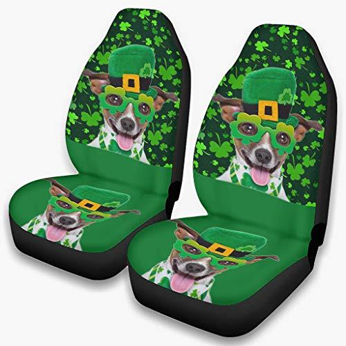 Gafas de perro St Patrick's Day Funda de asiento de coche antideslizante impreso – Protector de asiento delantero para coches blanco onesize