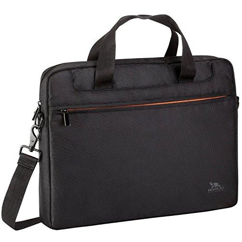 Rivacase hochwertige Schultertasche für Notebook bis 39,6 cm (15,6 Zoll) schwarz