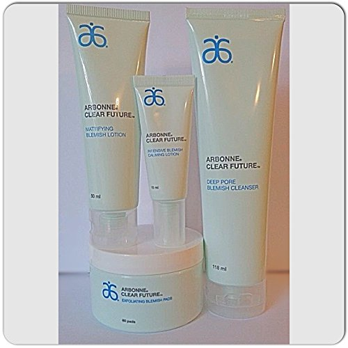 Arbonne Clear Future Set 4 Pc Full Size for Acne, Oily Skin Unisex