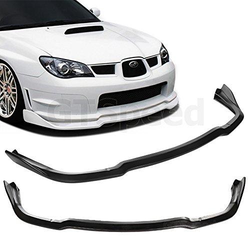 GT-Speed - CS2 Style PU Front Bumper Lip - Compatible With 06-07 Subaru Impreza WRX STi