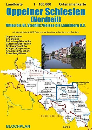 Landkarte Oppelner Schlesien (Nordteil): Ohlau bis Gr. Strehlitz/Neisse bis Landsberg O.S.
