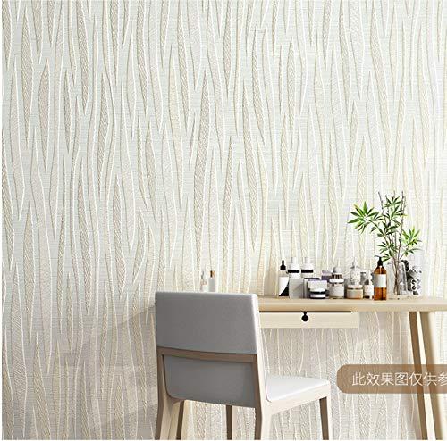 JKONG Moderne minimalistische 3D-Wellenmuster-Kurvenstreifen-Tapete Wohnzimmer-Schlafzimmer-Tapete Maca SN8016 B 10m * 53cm