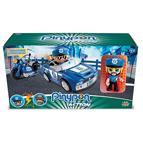 Giochi Preziosi Pinypon Action 2 Vehículos de policía con Personaje y...
