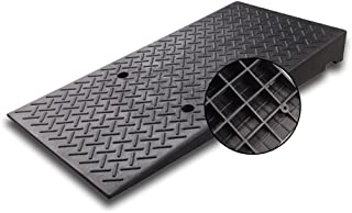 YJFENG Ramps for Wheelchairs, Heavy Duty Anti-skid Rubber Curb Ramps, Door Steps Transition Mat with Screws, Portable Kerb...