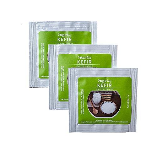 Delicioso y saludable arranque cultura - Kefir con Lactobacillus, hecho en Bulgaria - 3 bolsitas
