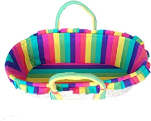 GOUO  Baby Moses Basket Baby Discharge Basket Straw Baby Basket Cradle Car Sleeping Princess Bed Studio Kindergarten Props
