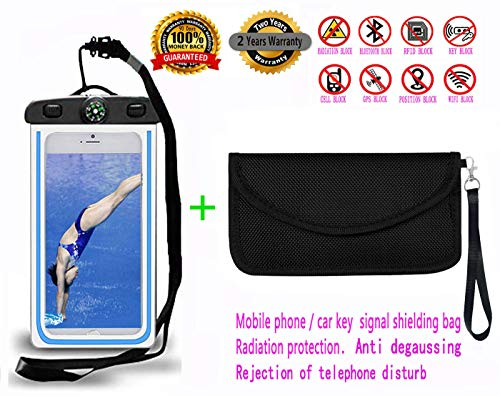 Best Faraday Bag, 100% Anti-Spying Anti-Tracking GPS RFID Signal Blocker Bag for Cell Phone Privacy Protection and Car Key FOB, Healthy Handset Privacy Protection Travel & Data Security.