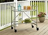 Cosco Folding Serving/Bar Cart, Steel, Silver