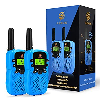 Walkie Talkies for Kids, dmazing Kids Walkie Talkies for Boys Age 5-10 Birthday Gifts for 3-6 Year Old Boys Outdoor Toys for 3-6 Year Old Boys Gifts Age 4 Boys Toys Age 3-12 Blue DDFW01