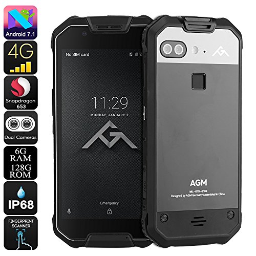 Generic Preorder AGM X2 Rugged Android Phone - Android 7. 1, Octa-Core CPU, 6GB RAM, 128GB ROM,...