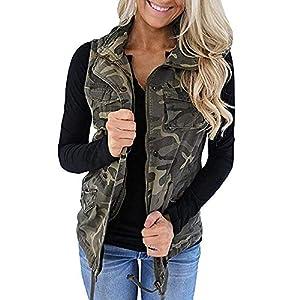Women's Military Sleeveless Vest Anorak Drawstring Lightweight Jacket