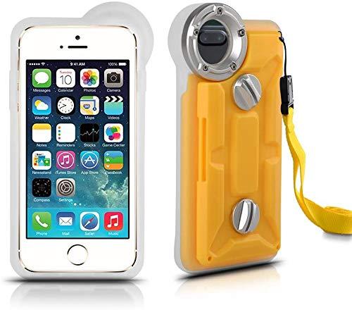 TOPCHANCES Unterwasser-Gehäuse für iPhone 8 Plus, iPhone 7 Plus und iPhone 6/6S Plus, Grad IP68 Professional [100 m/328 ft] Tauchen, Schwimmen, Unterwasser-Foto, Videokamera, wasserdichte Schutzhülle