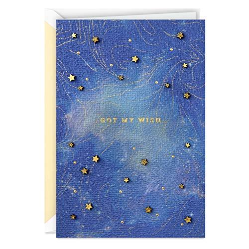 Hallmark Signature Love Card, Anniversary Card, Romantic Birthday Card (Wish on a Star) (699RZH1191)