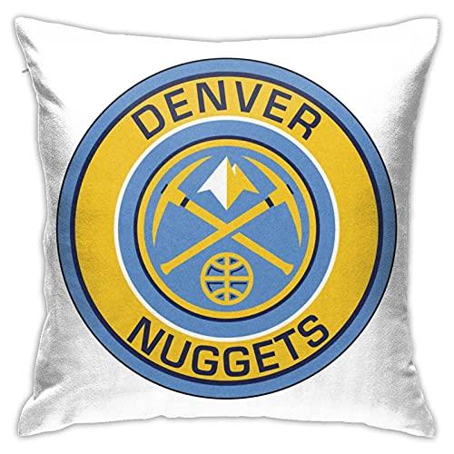 Denver Nuggets - Federa decorativa per cuscino, quadrata, per casa, divano, letto, sedia, divano, 45,7 x 45,7 cm