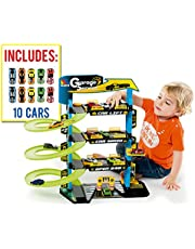 M MOLTO Parking Infantil con 4 Plantas + Complementos
