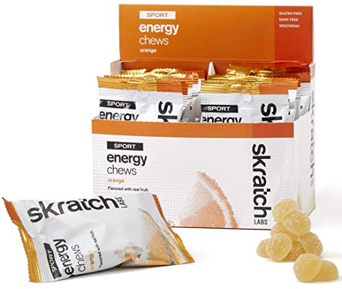 SKRATCH LABS Sport Energy Chews Orange 10 Pack  Natural Developed for Athletes and Sports Performance Gluten Free Dairy Free Vegan