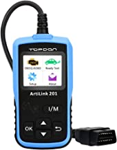 OBD2 Scanner - Full OBDII Functions OBD2 Code Reader for I/M Emission Test, Scan Tool Car Diagnostic Tool with On-Board Monitoring and Turning Off MIL(Check Engine Light) TOPDON AL201