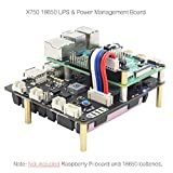 Geekworm Raspberry Pi 4/3B +/3B 18650 UPS HAT mit Sicher Abschaltung + Auto Power-Auf, x750 Sicher Power Management Expansion Board für Raspberry Pi 4 Modell B/3B +/3B/2B (X750)