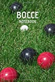 Bocce Notebook: Indoor Bocce Ball Scorebook Yard Game Notebook