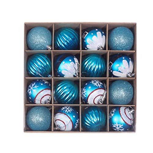 Calculatrice 1 x julgran färgad boll hänge låda julkulor, säljs i en låda (16 st)