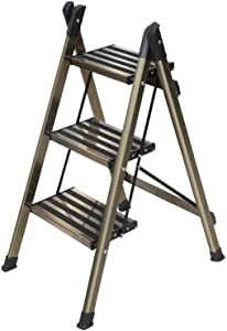M-Y-S Step Ladder Folding Step Stool Ladder with Anti-Slip Sturdy and Wide Pedal Multi-Use for Household and Office Portable Step Stool Steel 330lbs