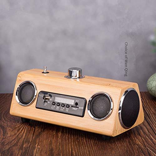WSY Wireless Bluetooth Lautsprecher 4.0Wooden Smart Speaker-Wiederaufladbare Anschluss USB-Player Mini-Subwoofer
