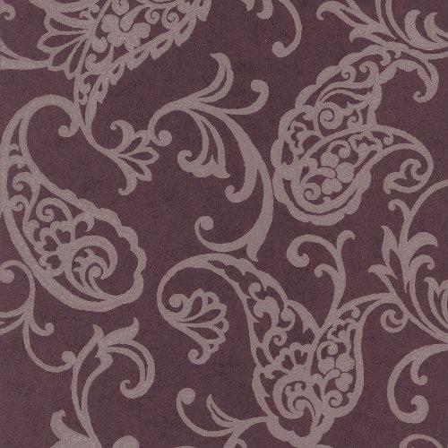 BHF 295–66501 Luna vis Paisley behang - crème/koper P bruin