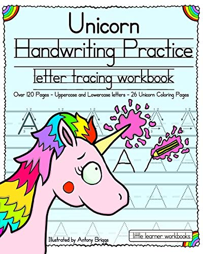 Unicorn Handwriting Practice: Letter Tracing Workbook: 1 (Little Learner Workbooks)