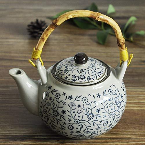 CCEKD Teteras Cerámica Creativa esmaltado Proceso de Color Tetera de Agua Tetera 800 ml con Filtro Tetera de Porcelana Juego de té