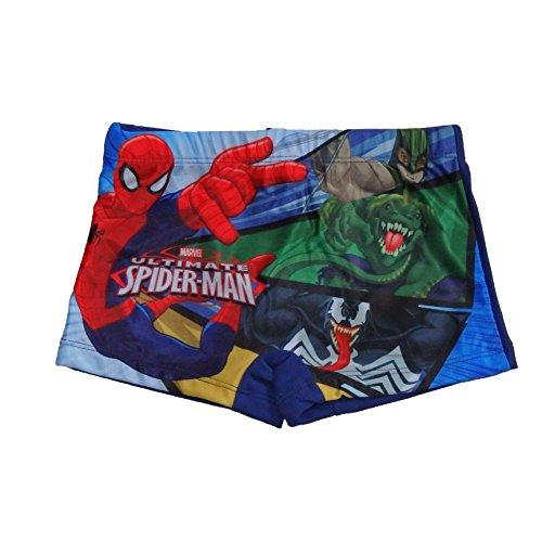 Spiderman Jungen Badehose MARVEL (98, Dunkelblau)
