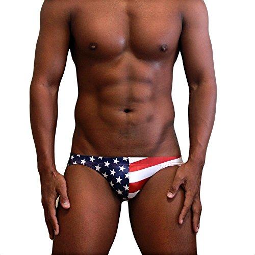 Neptune Scepter - Bañador de natación, un Bikini bajo Super para Hombres, Escotado, sin Forro - Banderas Nacionales
