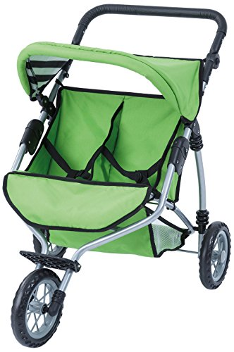 Bayer Design- Cochecito de Gemelos para Hacer Footing, Color Verde (33927AA)