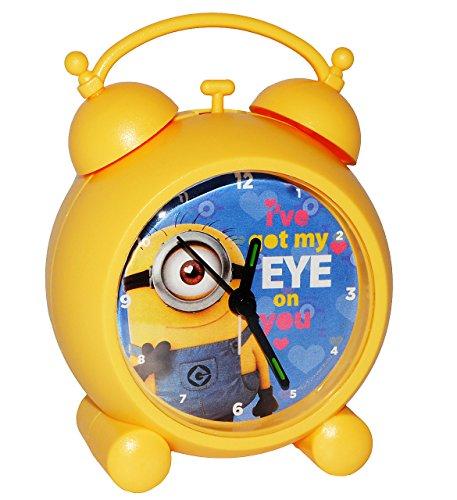 alles-meine.de GmbH Wecker -  Minions - Ich einfach unverbesserlich  - für Kinder & Erwachsene - großer Kinderwecker Analog - Alarm Kunststoff / Plastik - Minion - Mädchen & Ju..