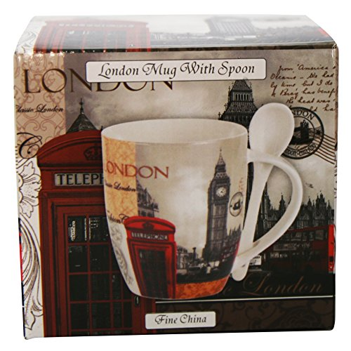 LEONARDO HOME Szene London Collage Becher und Löffel Set